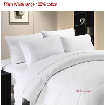 plain cotton bed sheet