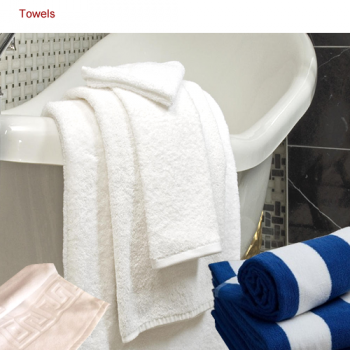 white bath towel, mat